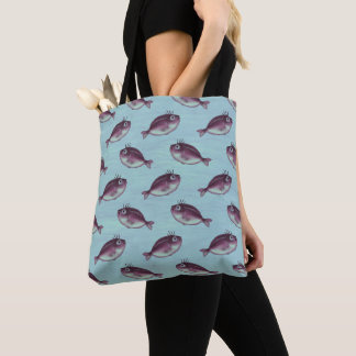 Funny Fish With Fancy Eyelashes Pattern Tote Bag