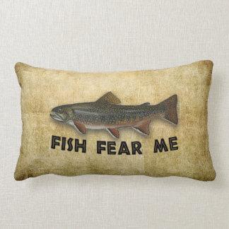 Funny Fisherman Fish Fear Me Lumbar Pillow