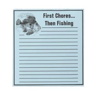 Funny Fishermans John Dory Chore To Do List Notepad