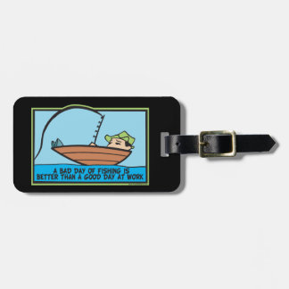 Funny Fisherman's Luggage Tag