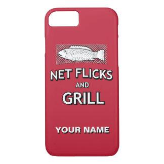 Funny Fishing Cast Net Fish Joke Parody iPhone 7 Case