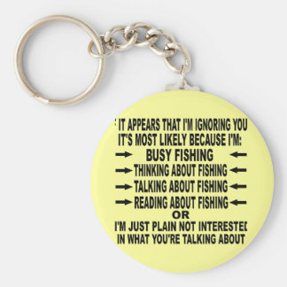 FUNNY FISHING OBSESSION BASIC ROUND BUTTON KEY RING