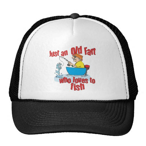 Funny Fishing Old Fart Mesh Hat