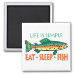 Funny Fishing Saying Square Magnet