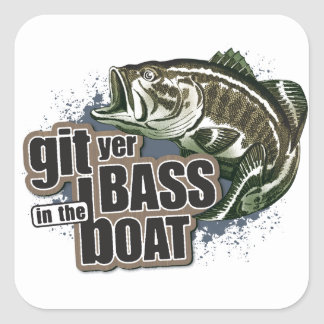 Funny Fishing Square Sticker