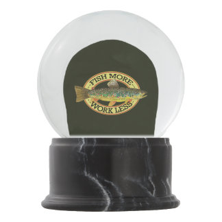 Funny Fishing Words for a Fisherman Snow Globe
