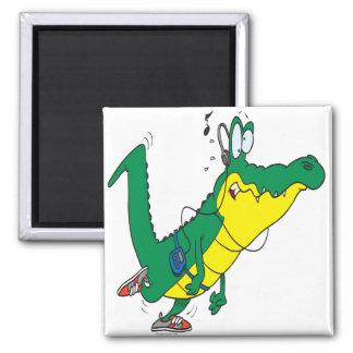 funny fitness gator alligator cartoon magnet