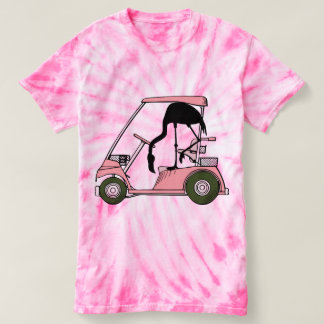Funny Flamingo Golf Cart T-Shirt