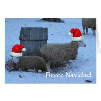Funny Fleece Navidad Ewe Sheep Christmas Card