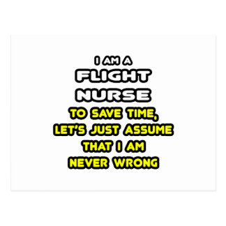 Funny Flight Nurse T-Shirts and Gifts Postcard