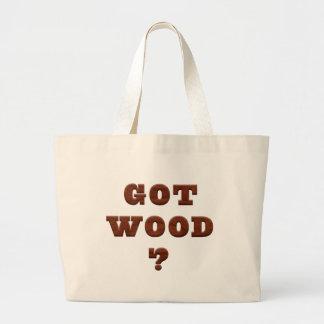 Funny Flirt Got Wood Tote Jumbo Tote Bag