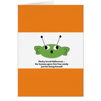 Funny Florky Halloween card