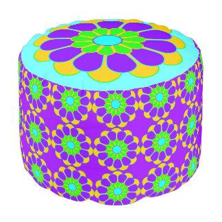 Funny Flower Power Bloom II + your backgr. & idea Pouf