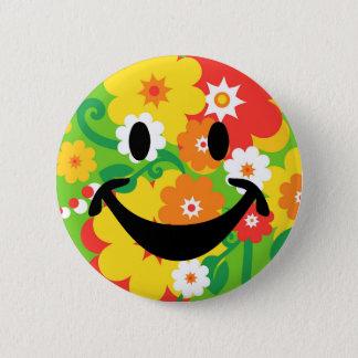Funny Flower Power Wallpaper & smiley 6 Cm Round Badge