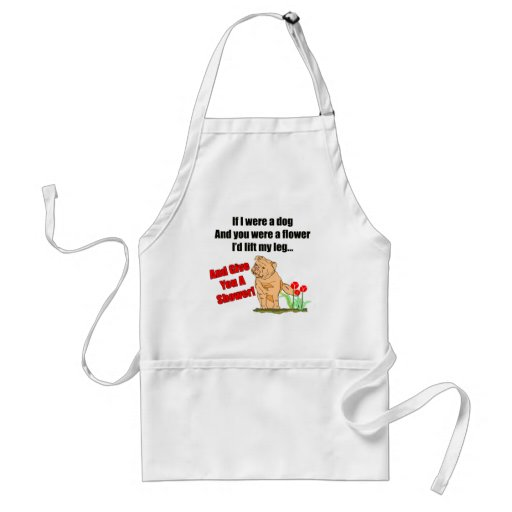 Funny Flower Shower T-shirts Gifts Apron