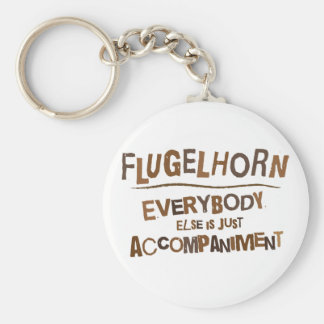 Funny Flugelhorn Basic Round Button Key Ring