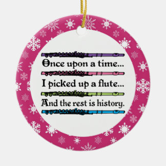 Funny Flute Music Christmas Ornament Gift