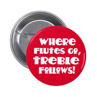 Funny Flute Treble Music Button