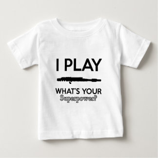 funny flutes design baby T-Shirt