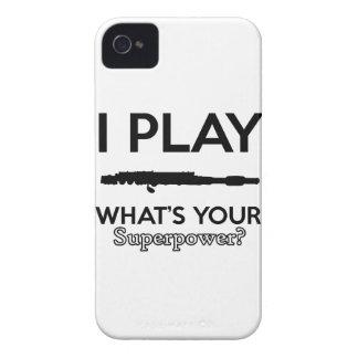funny flutes design iPhone 4 case