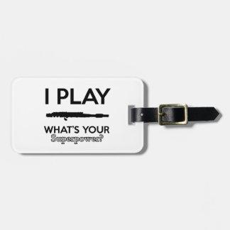 funny flutes design luggage tag