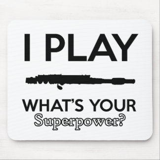 funny flutes design mouse pad