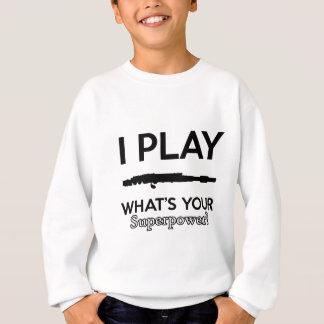 funny flutes design sweatshirt
