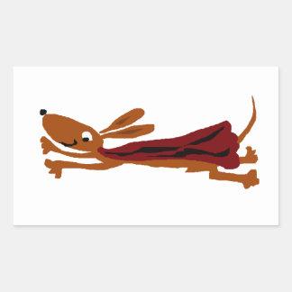 Funny Flying Dachshund Super Dog Sticker