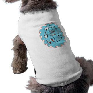 funny food chain vector graphic sleeveless dog shirt