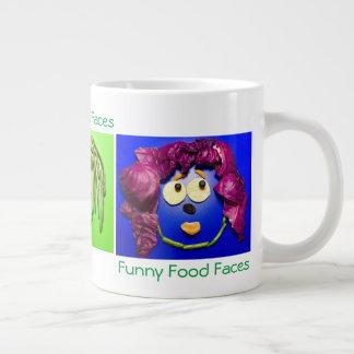 Funny Food Faces Large Coffee Mug