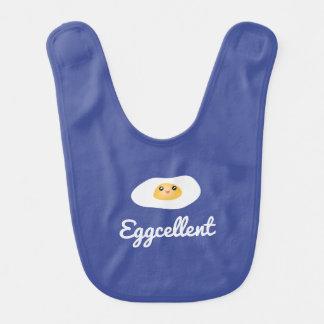 Funny Food Pun Cute Egg Eggcellent Humorous Unisex Bib