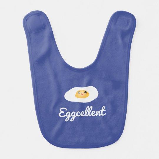 Funny Food Pun Cute Egg Eggcellent Humourous Bib