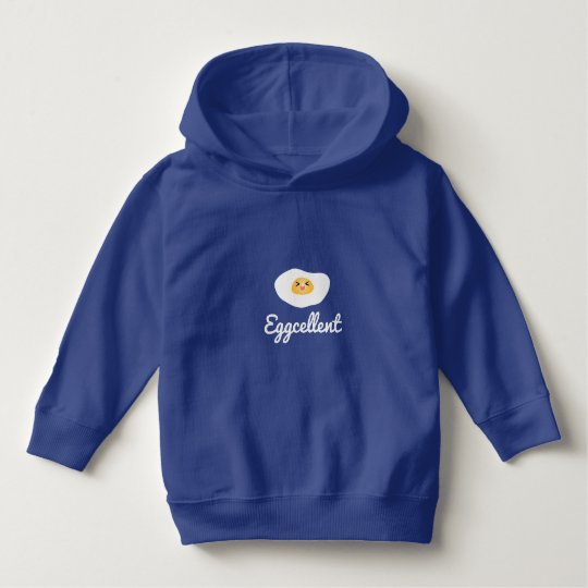 Funny Food Pun Cute Egg Eggcellent Humourous Hoodie