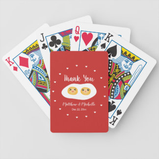 Funny Foodie Bride Groom Cute Wedding Party Favor Bicycle Playing Cards