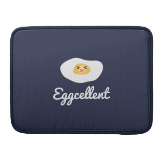 Funny Foodie Cute Egg Eggcellent Humorous Food Pun Sleeve For MacBook Pro