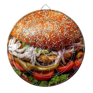 funny foodie novelty cheeseburger hamburger dartboard