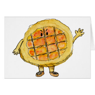 Funny foodie treacle tart novelty art card