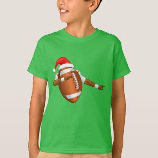 Funny Football Dab Sports Dance Santa Hat T-Shirt