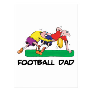 Funny Football Dad Father s Day Postcards