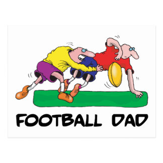 Funny Football Dad Father s Day Post Card