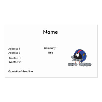 funny football helmet cartoon character pack of standard business cards