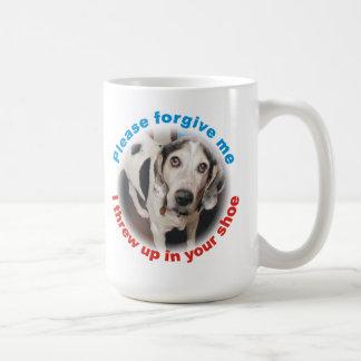 Funny Forgive me, I threw up in your shoe Dog Mug