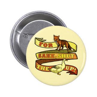 Funny Fox Duck Animal Pun 6 Cm Round Badge