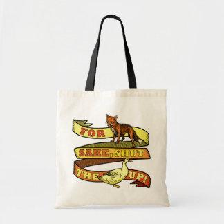 Funny Fox Duck Animal Pun Tote Bag