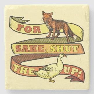Funny Fox Duck Animal Pun Stone Coaster
