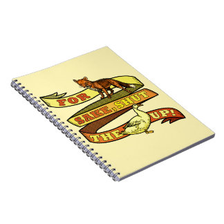 Funny Fox Duck Animal Pun Notebook
