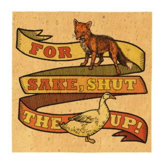 Funny Fox Duck Animal Pun Coasters