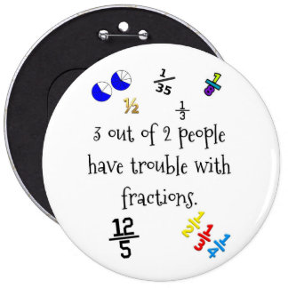 Funny Fractions Button