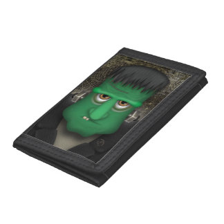 Funny Frankenstein Halloween Costume Trifold Wallet