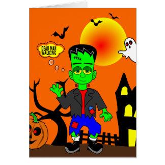 Funny Frankenstein's Monster Image Card